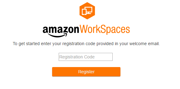 Amazon Workspaces Registration Code